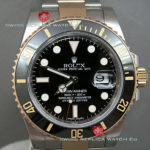 Swiss Replica Rolex Submariner 2Tone Black Ceramic