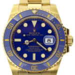 Swiss Replica Rolex Submariner Gold Blue Ceramic