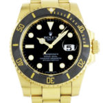 Swiss Replica Rolex Submariner Gold Black Ceramic