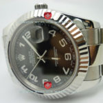 swiss Replica Rolex Datejust SS Black Arabic