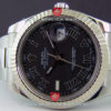 Swiss Replica Rolex Datejust SS Black Roman