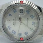 Swiss Replica Rolex Datejust SS Silver Arabic