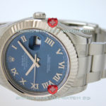 Swiss Replica Rolex Datejust SS Blue Roman