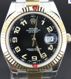 Replica Rolex Datejust 2Tone Black Arabic