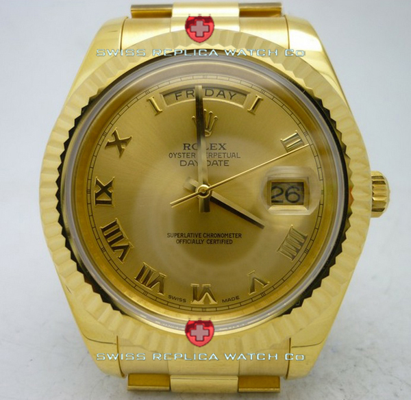 Replica Rolex Day-Date Gold Gold Roman