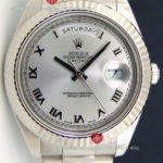 Replica Rolex Day-Date SS White Roman