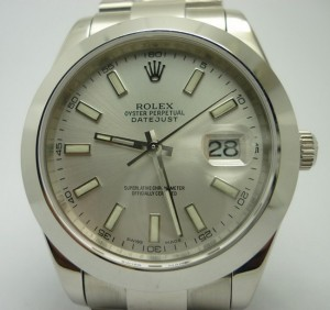 Replica SS Datejust II Smooth Bezel Silver Dial