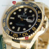 Swiss Replica Rolex GMT-Master II Gold Black Ceramic